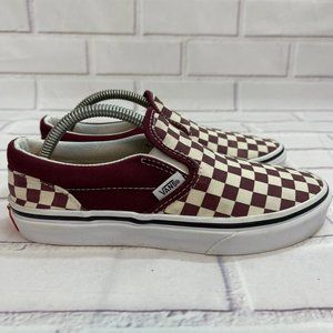 VANS Authentic Checkerboard Skate Shoes slip on
